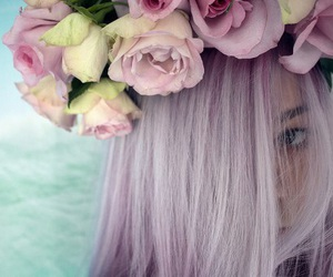 'hair', 'roses', and 'grunge' image