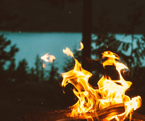 aesthetic, artsy, and fire image