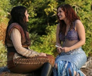 once upon a time, ariel, and snow white image