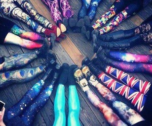 leggings, galaxy, and cool image