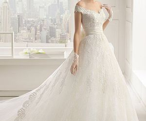 bride, love, and dresses image