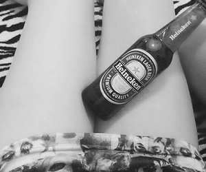 beer, girl, and legs image