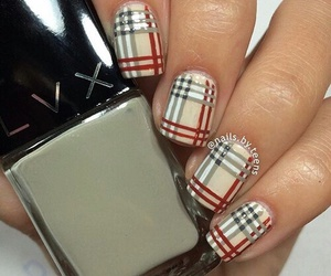 beautiful, Burberry, and nails image