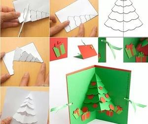 diy, christmas, and card image