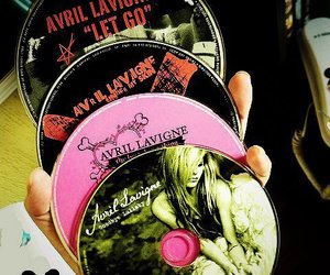 Avril Lavigne and cd image