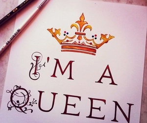 Queen, crown, and art image