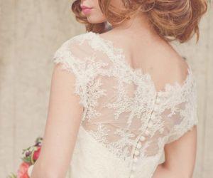 lace, wedding, and wedding dress image