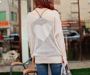 fashion, heart, and girl image