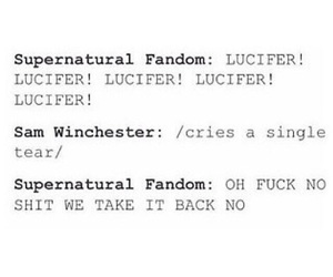 dean winchester, fandom, and lucifer image