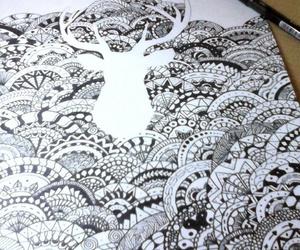 blackandwhite, draw, and tumblr image