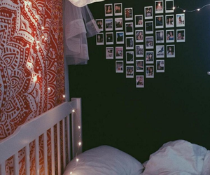 home, bedroom, and heart image