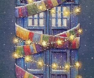 doctor who, tardis, and christmas image