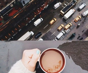 cars, city, and coffee image