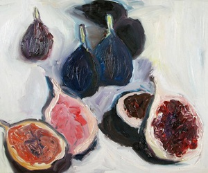 art, painting, and fig image