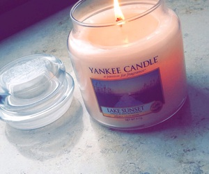 candle, fire, and lake image