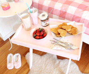 food, nutella, and pink image