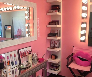 makeup, pink, and room image