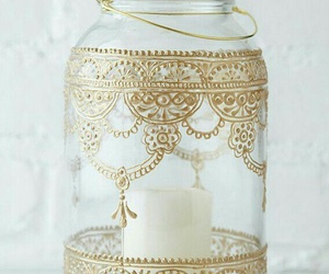 candle, gold, and diy image