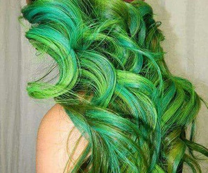 colored hair, gorgeous, and green image
