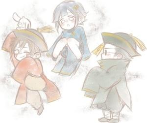hinata, kiba, and naruto image