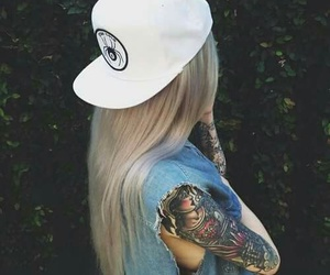 tattoo, girl, and style image