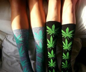 weed, socks, and huf image