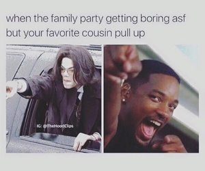 cousin, funny, and new years image