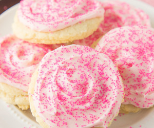 food, pink, and Cookies image