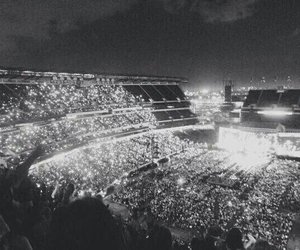 one direction, concert, and crowd image