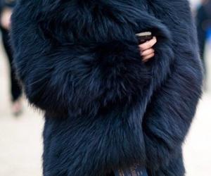 blue, coat, and fashion image