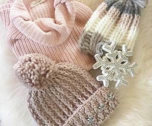 cap, snowflake, and winter image