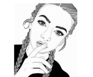 secret shhh girl outlines image