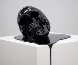 skull, black, and art image