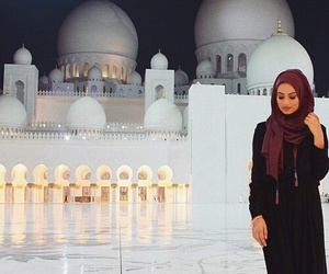 hijab, islam, and mosque image