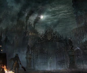city, Darkness, and fantasy image