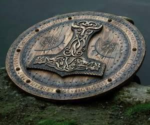 shield, viking, and runes image