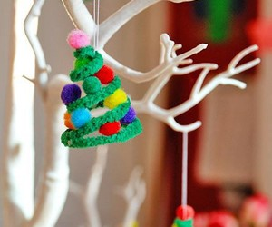 christmas, christmas tree, and crafts image