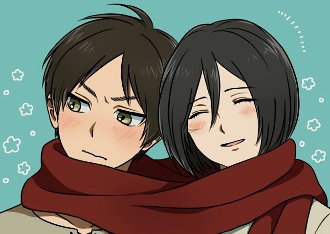 One Of The Cutest Fanart For My Otp Eren X Mikasa