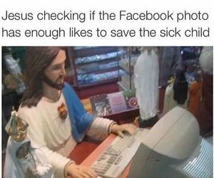 jesus, funny, and facebook image