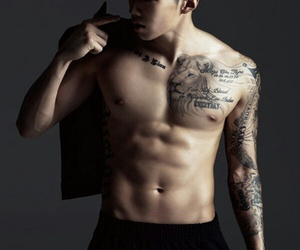 jay park, abs, and kpop image