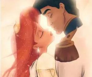 ariel, little mermaid, and cartoon image
