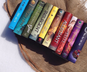 books, colours, and john green image