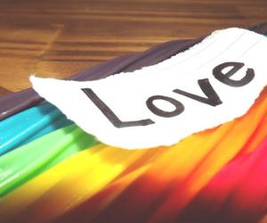 rainbow and love image