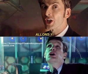 doctor who, david tennant, and matt smith image