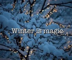 winter, snow, and magic image