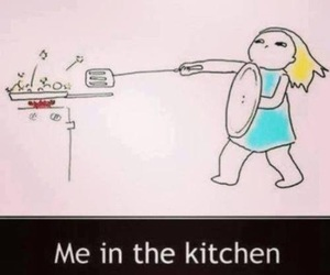 kitchen, me, and funny image