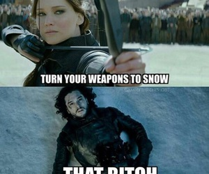game of thrones, hunger games, and jon snow image