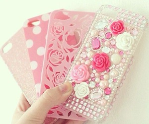 pink, iphone, and girly image