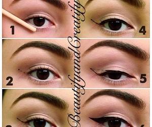 eyeliner, makeup, and eye image