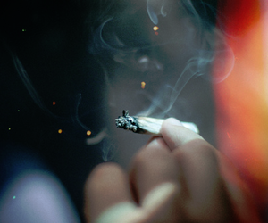 beautiful, cigarette, and weed image